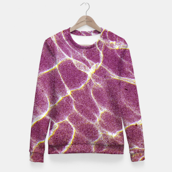 Thumbnail image of Ripple patterns of crystal clear water over pink sand Fitted Waist Sweater, Live Heroes