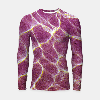 Thumbnail image of Ripple patterns of crystal clear water over pink sand Longsleeve Rashguard , Live Heroes