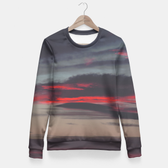 Thumbnail image of Beautiful image of the sky as night falls Fitted Waist Sweater, Live Heroes