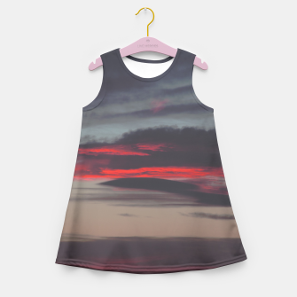 Thumbnail image of Beautiful image of the sky as night falls Girl's Summer Dress, Live Heroes