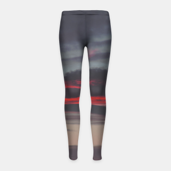 Thumbnail image of Beautiful image of the sky as night falls Girl's Leggings, Live Heroes