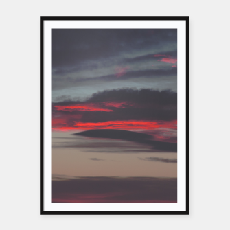Thumbnail image of Beautiful image of the sky as night falls Framed poster, Live Heroes