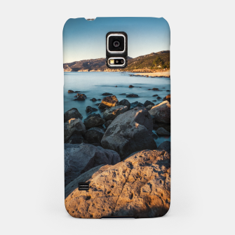 Thumbnail image of Photograph of a rocky coastline and beach Samsung Case, Live Heroes