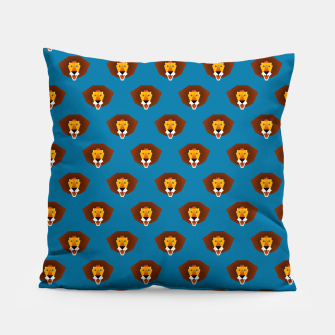 Be wild and free, little lion Pillow thumbnail image