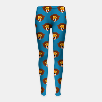 Thumbnail image of Be wild and free, little lion Girl's Leggings, Live Heroes