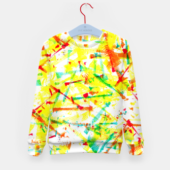 Thumbnail image of Color Splotches – Kid's Sweater, Live Heroes