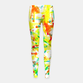 Thumbnail image of Color Splotches – Girl's Leggings, Live Heroes