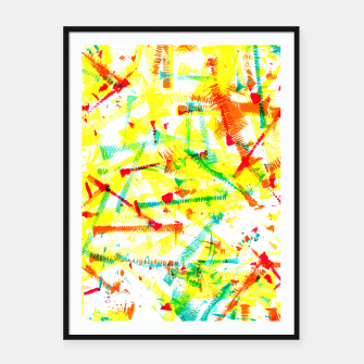 Thumbnail image of Color Splotches – Framed poster, Live Heroes