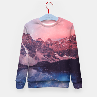 Thumbnail image of Mountainous Space Kid's Sweater, Live Heroes