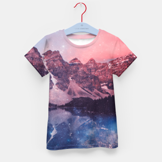 Thumbnail image of Mountainous Space Kid's T-shirt, Live Heroes