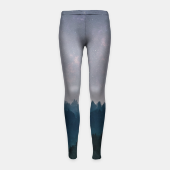 Thumbnail image of Clear Earth Girl's Leggings, Live Heroes