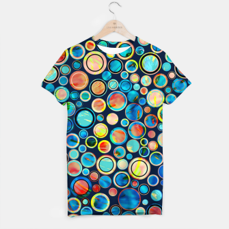 Imagen en miniatura de Dots on Painted Background T-shirt, Live Heroes