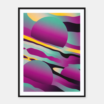 Thumbnail image of Unusual Peaches Framed poster, Live Heroes
