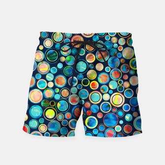 Imagen en miniatura de Dots on Painted Background Swim Shorts, Live Heroes