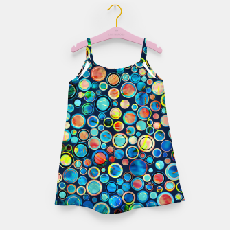 Dots on Painted Background Girl's Dress imagen en miniatura