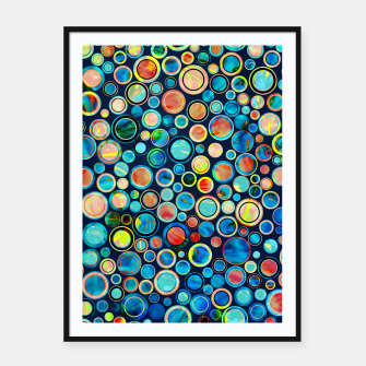 Dots on Painted Background Framed poster imagen en miniatura