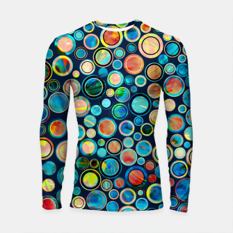 Dots on Painted Background Longsleeve Rashguard  imagen en miniatura