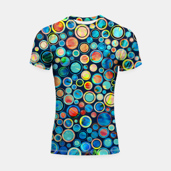 Imagen en miniatura de Dots on Painted Background Shortsleeve Rashguard, Live Heroes