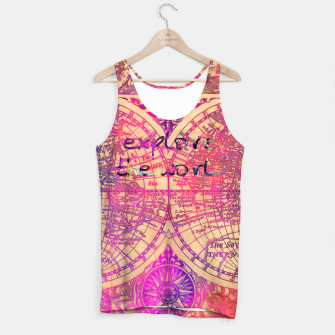 Thumbnail image of explore the world Tank Top, Live Heroes