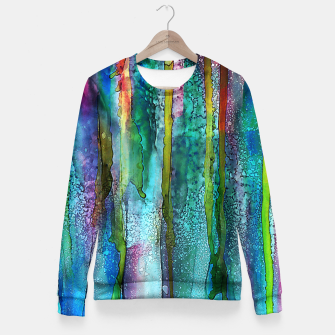 Miniaturka Rainbow Rain Fitted Waist Sweater, Live Heroes