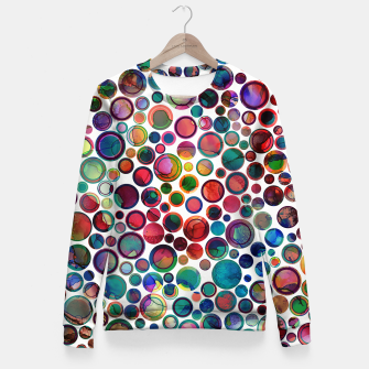 Dots on Painted Background 2 Fitted Waist Sweater imagen en miniatura