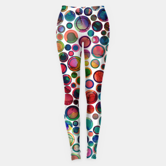 Dots on Painted Background 2 Leggings imagen en miniatura