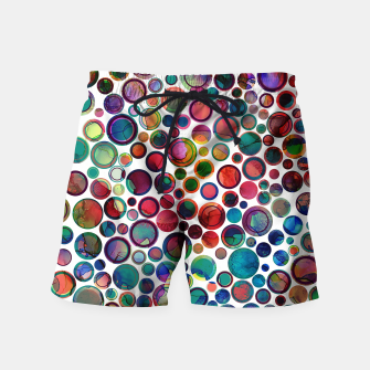 Imagen en miniatura de Dots on Painted Background 2 Swim Shorts, Live Heroes