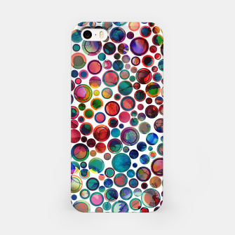 Imagen en miniatura de Dots on Painted Background 2 iPhone Case, Live Heroes