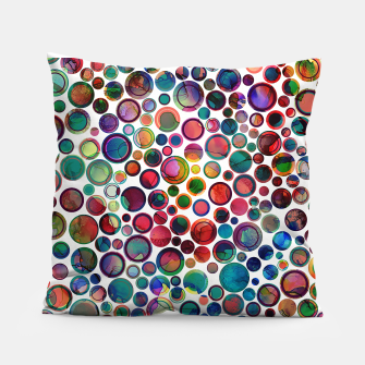 Dots on Painted Background 2 Pillow imagen en miniatura