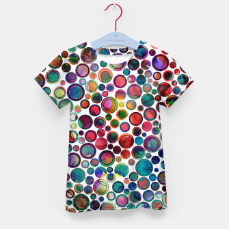 Imagen en miniatura de Dots on Painted Background 2 Kid's T-shirt, Live Heroes
