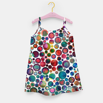 Imagen en miniatura de Dots on Painted Background 2 Girl's Dress, Live Heroes