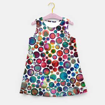 Dots on Painted Background 2 Girl's Summer Dress imagen en miniatura