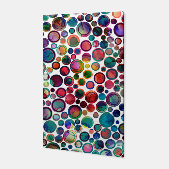 Dots on Painted Background 2 Canvas imagen en miniatura