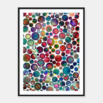 Dots on Painted Background 2 Framed poster imagen en miniatura