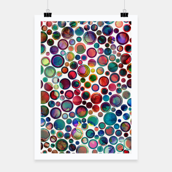 Dots on Painted Background 2 Poster imagen en miniatura