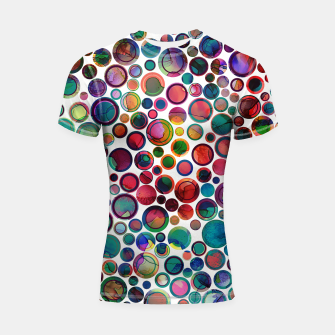 Imagen en miniatura de Dots on Painted Background 2 Shortsleeve Rashguard, Live Heroes