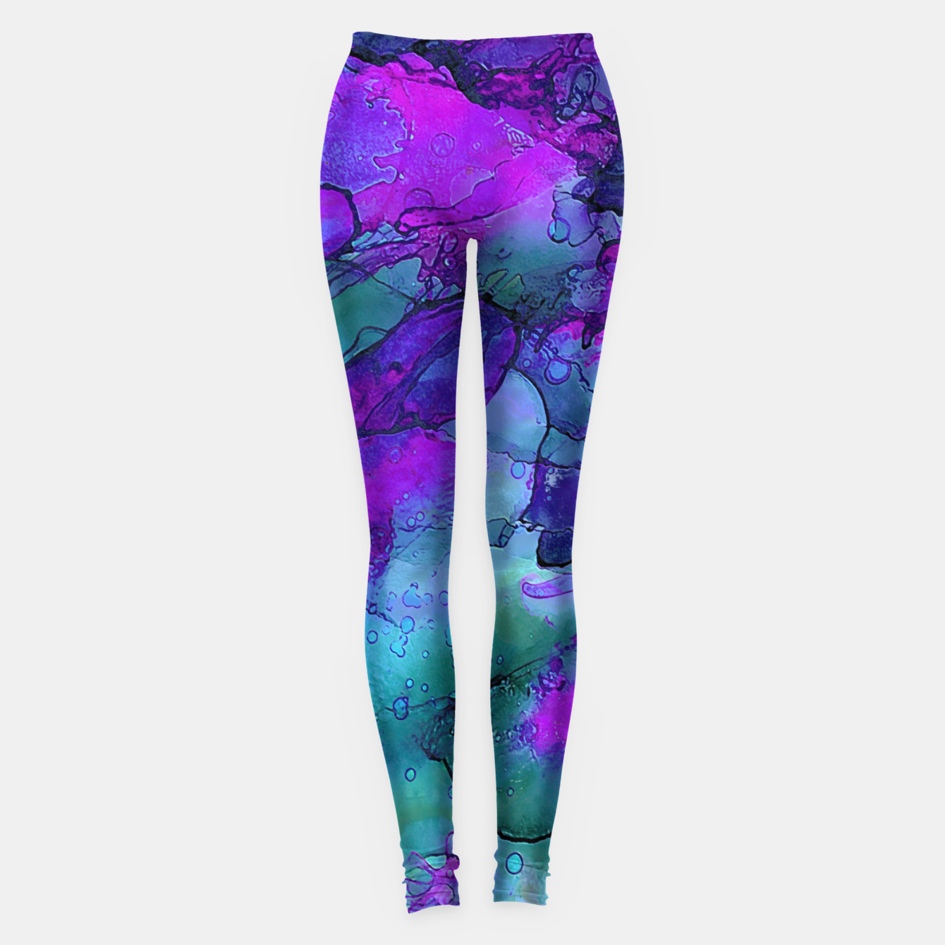 Imagen de Purple Flower Leggings - Live Heroes