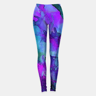 Purple Flower Leggings imagen en miniatura