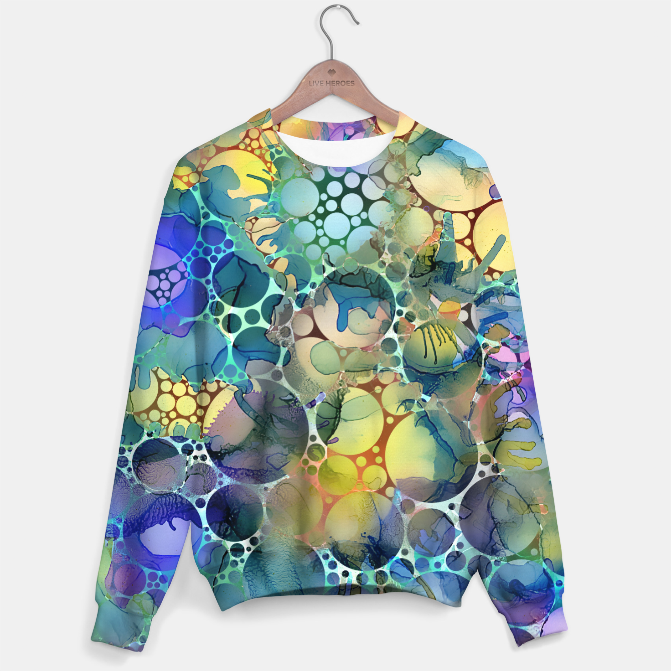 Imagen de Dots on Painted Background Sweater - Live Heroes