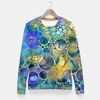 Imagen en miniatura de Dots on Painted Background Fitted Waist Sweater, Live Heroes