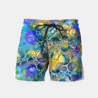 Dots on Painted Background Swim Shorts imagen en miniatura