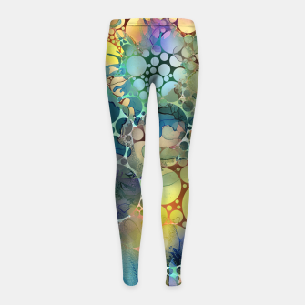 Dots on Painted Background Girl's Leggings imagen en miniatura