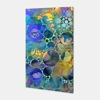 Dots on Painted Background Canvas imagen en miniatura