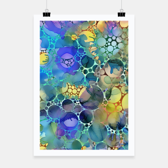Dots on Painted Background Poster imagen en miniatura