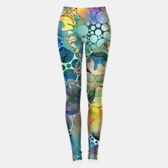 Dots on Painted Background Leggings imagen en miniatura