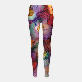 Flower Bouquet Girl's Leggings imagen en miniatura