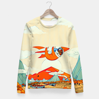 Miniatur Sloths on the rocket Fitted Waist Sweater, Live Heroes