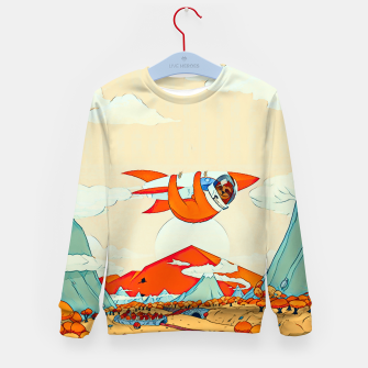 Miniatur Sloths on the rocket Kid's Sweater, Live Heroes