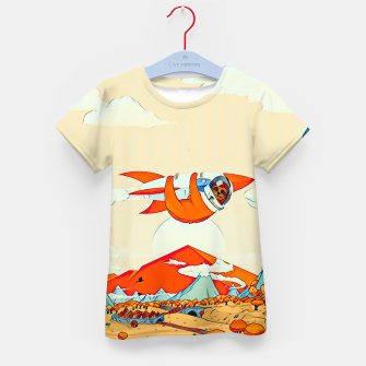 Miniatur Sloths on the rocket Kid's T-shirt, Live Heroes