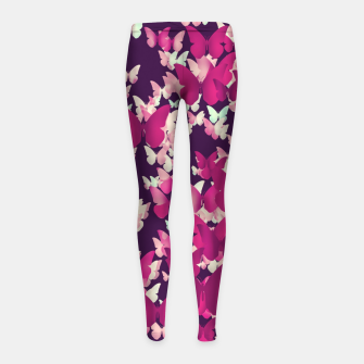 Thumbnail image of Butterfly Effect Girl's Leggings, Live Heroes